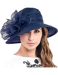 HISSHE Ascot Derby Bowler Church Cloche Hat Bowknot Bridal Dress Party Cap S051