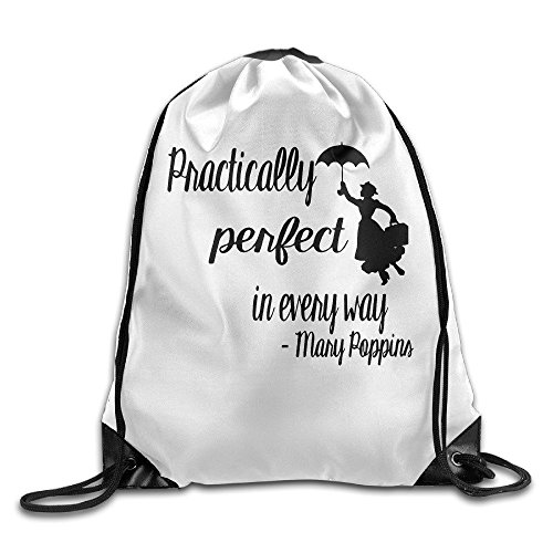 Liuzhis Mary Poppins Practically Perfect In Every Way Gym String Bag Drawstring Backpack -
