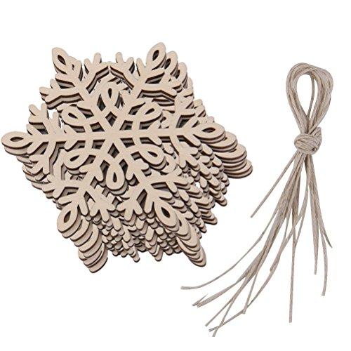 Pixnor 10pcs fiocco di neve Natale ornamenti moda appeso decorazione decorazioni in legno