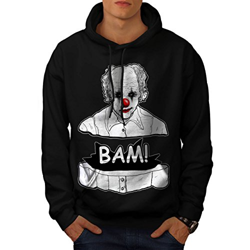 Clown Scary Creep Horror Men M Kapuzenpullover | Wellcoda