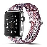 Armband für Apple Watch 38mm,PU Leder Ersatzband mit Edelstahl Gürtelschnalle Leder Uhrenarmband für Apple Watch 38mm Series 1/2/3 (A)