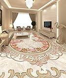 Yosot 3D Bodenbelag Malerei Tapete Waschraum 3D Bodenbelag Kunst Kontinental Acura Marmor Bodenbelag Selbstklebende Wasserdichte Pvc Tapete-140Cmx100Cm