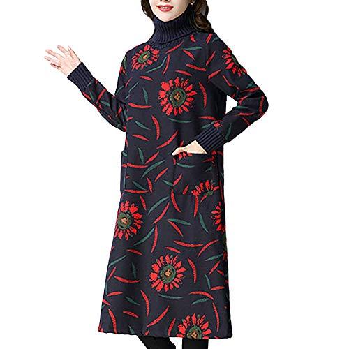 Donna autunno inverno maglia vestiti eleganti v-collo maglioni vestiti maniche lunghe abito a tunica