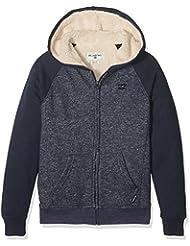 Billabong Balance Sherpa-Sudadera con capucha y cremallera para niño azul FR: 14 años (talla fabricante:) 14
