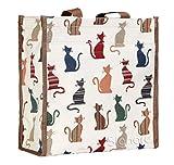 Bolso tapiz Shopper de moda Signare para mujer bolso de hombro Gato descarado