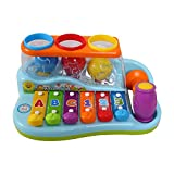 #9: Toyshine Musical Toy Xylophone Piano Pounding Bench with Balls and Hammer
