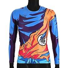 CoolChange camiseta de manga larga de Dragon Ball Super- Sayaijn, talla: L