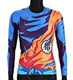 CoolChange Drachenball Langarm Super Saiyajin / Son Goku Shirt, Größe: S