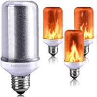 Flame Bulb,Lumiereholic E27 LED Flame Flickering Effect Fire Light Christmas Bulbs, Simulated Decorative Atmosphere Lamps for Christmas/Festival/Hotel/Bars/Home Decoration(Pack of 1)