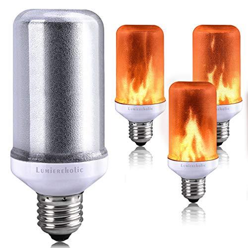 E27 Lampe Flackernde Licht Effekt Feuer Glühbirne Wandleuchte Außenleuchte Flackerlicht für Haus Garten Bar Party Hochzeit Restaurant Valentinstag Deko (1 Stück) ()