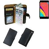 Portemonnaie Schutz Hülle für Oppo R5s, schwarz aus