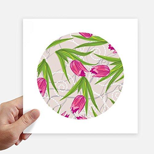 Nelke Blatt (DIYthinker Blätter Blume Nelke Pflanze Blume Quadrataufkleber 20Cm Wand Koffer Laptop Motobike Aufkleber 4Pcs 20cm x 20cm Mehrfarbig)