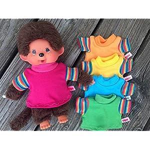 Puppenkleidung handmade für MONCHICHI oder Teddy Gr. 20 cm MONCHHICHI Bekleidung Shirt mit Regenbogen-Ärmelchen NEU