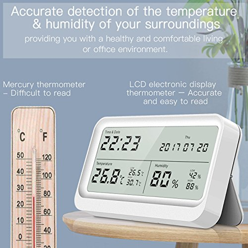 Hygrometer, Digitales Thermo-Hygrometer, AngLink