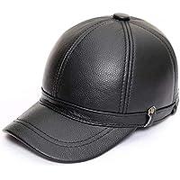 Gorra de béisbol Gorro de Cuero para Hombre Otoño e Invierno Gorra de Cuero  para Hombre ba75344d7df