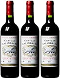 Château Calendreau Bordeaux Supérieur AOC Merlot 2014 Trocken (3 x 0.75 l)