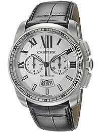 Cartier W7100046 - Reloj para hombres, correa de cuero