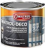 Owatrol Rustol-Deco - Alkyd-Decklack für alle Untergründe 0,75 ml - Braun