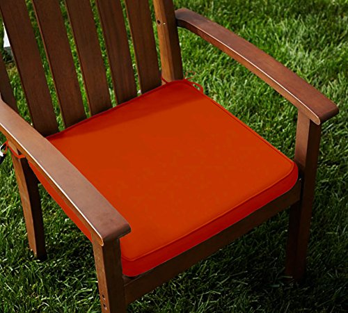 Lushomes Cotton Red Wood Chair Pads with 4 Strings and Foam Filling (2 pcs)  available at amazon for Rs.899