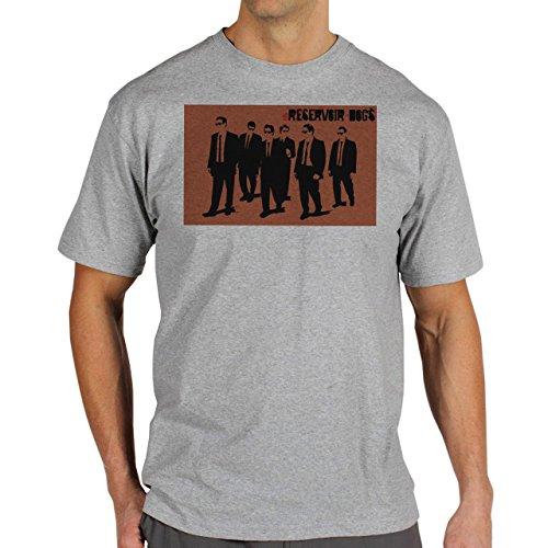 Reservoir Dogs Movie Quentin Tarantino Orange Screen Members Team Walking Canvas Background Herren T-Shirt Grau