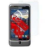atFolix Panzerfolie für HTC Desire Z Folie - 3 x FX-Shock-Clear stoßabsorbierende ultraklare Displayschutzfolie