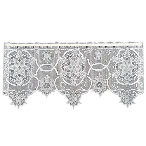 Heritage Lace Schneeflocke 152,4cm breit x 50,8cm Drop weiß 4-Wege - - Fenster Behandlungen Topper