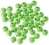 efco 45-TLG. 8mm Holz Perlen mit 23mm Durchmesser Neon Loch, grün