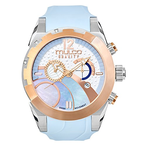 Watches MULCO Women's Collection, Gravity IOS Blue Ice, Silicone Strap, Stainless Steel Case, Analog, Quartz Swiss