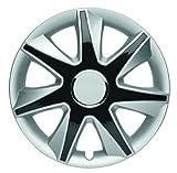 ALBRECHT automotive 49475 Radzierblende RUN IV 15 Zoll, 1 Satz, Silber/schwarz