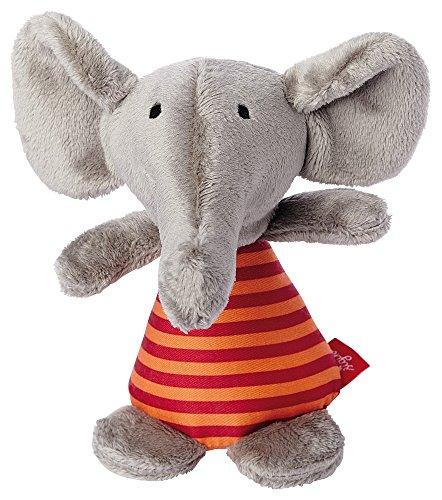 sigikid, Mädchen und Jungen, Greifling und Rassel Elefant, Grau/Orange, 41176