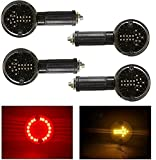 #5: Andride Arrow LED Side Indicator Red and Yellow for Royal Enfield Bullet Classic 350, 500, Chrome, Desert Storm, Standard 350, 500, Electra EFI, Twins, Twinspark (Set of 4)