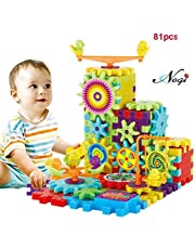 Negi Battery Operated 81 Piece Magical Building Blocks 3D Magic Play Stacking Set DIY for Brain Development Educational Toys for Kids
