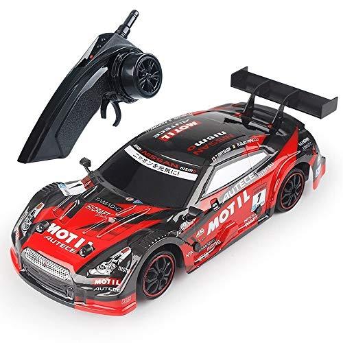 PETRLOY 2019 New RC Car 1/18 Skala Red GTR High-Speed   25 km/h elektronische Fernbedienung Auto Drift Race Off-Road 4WD mit LED-Licht ferngesteuertes Kinderspielzeug für Jungen und Erwachsene Gesch