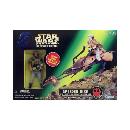 Star Wars - The Power of the Force 69727 – Speeder Bike with Princess Leia Organa in Endor Gear (Endor Gear)
