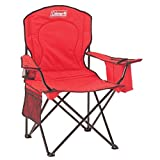 #4: Coleman Quad Chair Red with Attached Cool Bag