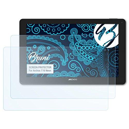 Bruni Schutzfolie für Archos 116 Neon Folie - 2 x glasklare Displayschutzfolie