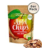 Apfelchips mit Zimt 6 x 40g I Leckere Fruchtchips für Zwischendurch I Knusprig getrocknete Äpfel I 100% natürliches Trockenobst