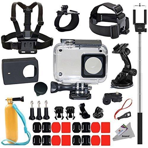 Galleria fotografica Deyard y-05protettiva impermeabile custodia kit 35-in-1accessori per Xiaomi Yi Action Camera 4K 2–bronzo