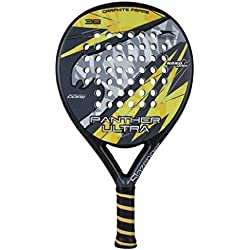 Slazenger Panther Ultra - Pala de pádel, color negro / amarillo / gris, 38 mm