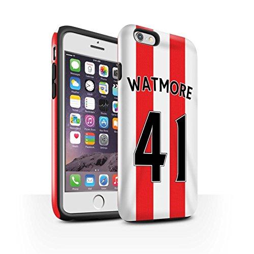 Offiziell Sunderland AFC Hülle / Glanz Harten Stoßfest Case für Apple iPhone 6S / Pack 24pcs Muster / SAFC Trikot Home 15/16 Kollektion Watmore