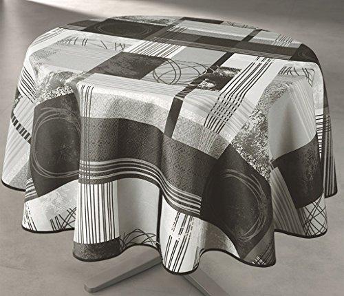 Nappe Anti-taches Ronde 160cm - Designer Gris