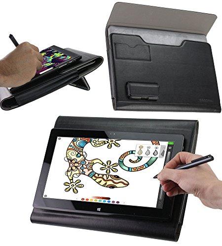 Broonel Folio Schutzhülle Premium Leder Grafiktablett Hülle Tasche Schutzhülle fü Ugee M708