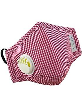 Maschera anti-smog maschile cotone PM2.5 lavata maschere riutilizzabili N95 Maschera carbone attivata -Red
