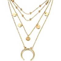 YouBella Stylish Jewellery Layered Gold Plated Multi Strand Necklace for Women (Golden, YBNK_5799)