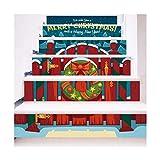 SERFGTFH Treppe Sticker Frohe Weihnachten 3-D-Simulation Wasserdicht Home Vinyl Wall Sticker Aufkleber Dekor Geschenk