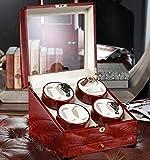 Rotador de relojes de pulsera,Watch Winder para 8 relojes,4 programas de rotación,340 * 325 * 280m m (L x W x H),color rojo , # 2