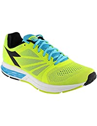 Diadora Men's Kuruka Running Shoe (6. 5 D(M) US, Fluo Yellow/Fluo Blue/Black)