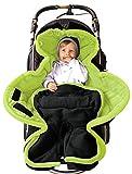 ByBoom® - Ganzjahres Fußsack Cocoon für Kinderwagen, Buggy auch Babyschale z.B. Maxi-Cosi; MADE IN EU, Farbe:Anthrazit/Limette