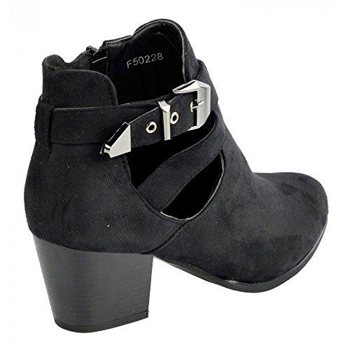 Kick Footwear - Signore stivaletti,stivali donna inverno,donna slip on boot womens stivali invernali Nero