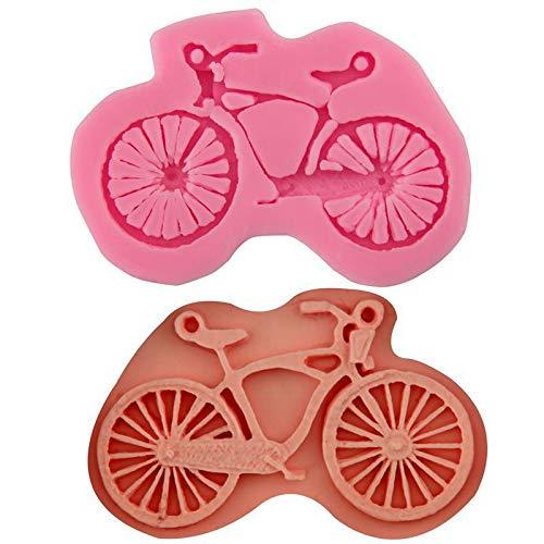 Bicicletta bicicletta Bicicletta Cartone animato, 3D in Silicone Cioccolato, Sapone, Candela Torta Fondente Cupcake, Cera Resina Stampo, Home Decor Gesso, Stampo di Fusione